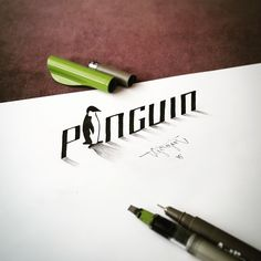 Lettering with Parallelpen-Brushpen&Pencil.As allways, I tried to create anamorphic illustration, typography and lettering with calligraphy tools and pencil. And this time I have a short compilation video at the end. I hope you will enjoy. Calligraphy Tools, Calligraphy Letters, Pencil Calligraphy, 3d Pencil Drawings, Anamorphic, Beautiful Calligraphy, Creative Lettering, Design Blog, Creative Advertising