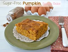 Sugar-Free Pumpkin Cake using Pilsbury sugar free yellow cake mix (which is really good on it's own with fresh peaches on top)