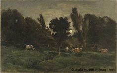 Charles-François Daubigny Le pré des Graves à Villerville en 1875 huile sur toile H. 0.884 ; L. 1.412 musée d'Orsay, Paris, France