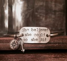 SALE She Believed She Could So She Did by YouCanQuoteMeOnThat