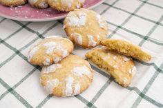 Galletas crinkles de lima-limón