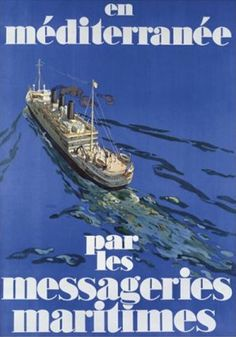 Messageries Maritimes Affiche