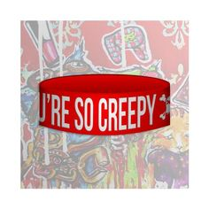 Best Bracelet 2017/ 2018 : YOU'RE SO CREEPY Wristband ($6)  liked on Polyvore featuring jewelry bra