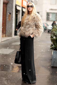Street style moda en la calle tendencias fur | Galería de fotos 18 de 45 | VOGUE