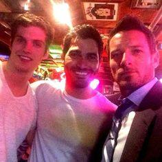 Daniel Sharman (Isaac Lahey), Tyler Hoechlin (Derek Hale) & Ian Bohen (Peter Hale ) from Teen Wolf