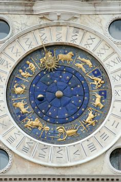 St Mark's, clock, astronomical, Venice