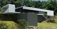 Casa go   Marcos Bertoldi Landscape Architecture Drawing, Architecture Background, Creative Architecture, Minimalist Architecture, Modern Architecture House, Concept Architecture, Modern Buildings, Residential Architecture, Amazing Architecture