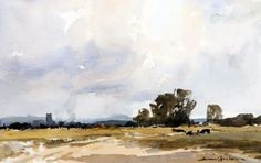 Artist: Edward Wesson (British, 1910–1983) Title:A Norfolk Landscape near Holt Medium:watercolorSize:12.5 x 19.5 in. (31.8 x 49.5 cm.)