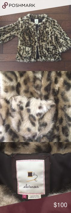 Anthropologie faux Fur cropped jacket This faux fur cropped leopard print jacket is the perfect accessory to dress up or down a look! Anthropologie Jackets & Coats Blazers