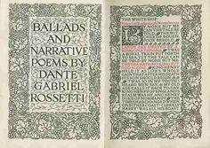 Ballads and Narrative Poems by Dante Gabriel Rossetti. Designby William Morris
