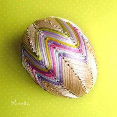 Egg Crafts, Easter Crafts, Easter Projects, Faberge Eggs, Ribbon Art, Egg Art, Spring Crafts, Shibori, Easter Eggs
