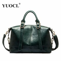 8911dcd78b9a YUOCL Designer Women Leather Handbag 2016 New Popular Fashion PU Leather  Women Shoulder Messenger Bag for female bolsa feminina men