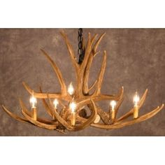 deer horn chandelier. justin would like this