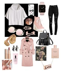 A fashion look from September 2017 featuring crop tops, button coat and torn jeans. Browse and shop related looks. Burberry, Gucci, Torn Jeans, Kenneth Jay Lane, Charlotte Tilbury, Casetify, Yves Saint Laurent, Mac, Fashion Looks