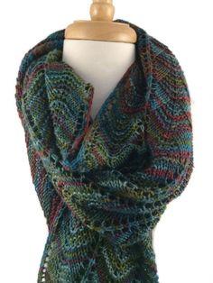 Rich Autumn colors Ladies Hand Knit Wrap Shawl Pashmina Wool Silk @ntonelli #bmecountdown