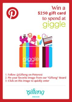 Pin it to win - Contest - Giveaway - Free - $250 Gift Card - Gift - from Gifteng