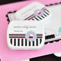 Personalized Mint Tins - Cupcake Party