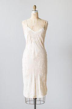 vintage 1930s pale pink silk damask slip dress