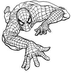 Marvel Comics Spider Man Climbing Coloring Page