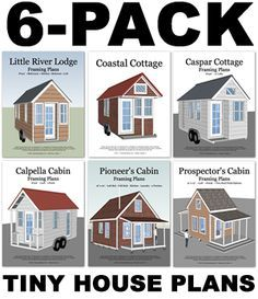 Tiny House Plans Free To Download & Print | Wood cabins, Cabin and ...