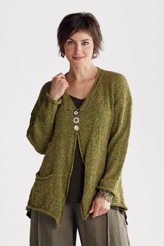 Estate Cardy: Amy Brill: Knit Cardigan | Artful Home / inspiration only!