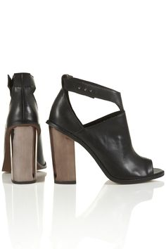 Topshop Peep Toe Boots