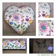 Τετράδιο  και ξύλινη κασετίνα!!!  #dream #happy  #handmade #flowers #decoupage #book #specialgift #ilovepaper