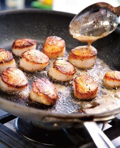 Seared Scallops Recipe (Perfect seared scallops. Golden on the outside, wobbly on the inside, and perfect through and through.)