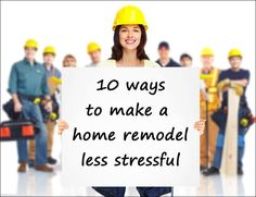 10 ways to make a home remodel less stressful. Learn more at This Mama Cooks! on a Diet #sponsored #mysunnyday
