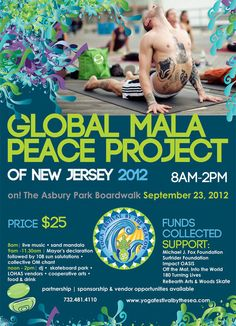 9/23/12 Global Mala 108 sun salutations #yoga #jerseyshore #asburypark 108 Sun Salutations, Asbury Park Boardwalk, Hot Yoga, Live Music, New Jersey, Health And Wellness, Inspirational Quotes, Karma, Action