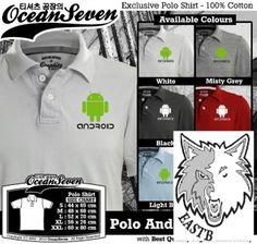 polo shirt android ocean seven online t-shirt,kaos,polo,raglan,distro,sablon,coreldraw,photoshop