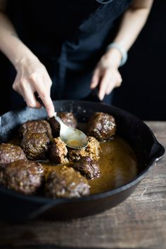 and mint meatballs with farro risotto and cilantro pesto iv always ...