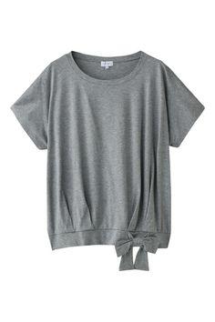 マッキントッシュ フィロソフィーウオッシャブル 裾リボン 半袖カットソー