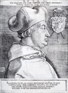 Cardinal Albrecht Of Brandenburg - Albrecht Durer