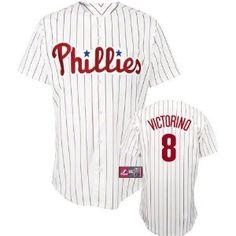 Shane Victorino Youth Philadelphia Phillies Home White Replica Jersey --- http://www.pinterest.com.luvit.in/473