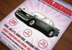 Retro Car Meeting Poster / Flyer II by DigitavernShop on Creative Market