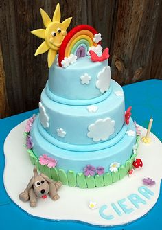 rainbow cake by Julia Hardy Cakes via Flickr Cake Pinterest