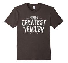 World's Greatest Teacher Black navy | Teacher T Shirt