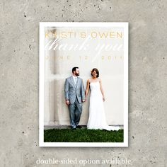 wedding thank you photo card Love is Chic by minkcards on Etsy, $64.00