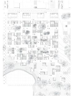 Zabala_Souza - Planta arquitectónica del conjunto Co Housing, Social Housing, Architecture Drawings, Designs To Draw, Workplace, Kindergarten, Projects To Try, Floor Plans, Urban