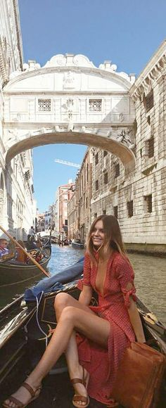 Holy cow! I want to wear this amazing dreamy red maxi wrap dress in Gondola ride