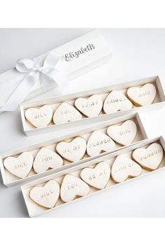 Cookie Proposal Box - Will You Be My Bridesmaid? Too cute!