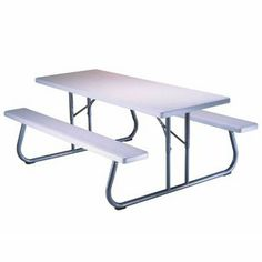 17 best folding picnic tables images on pinterest fold up picnic folding picnic tableslifetime 6 foot folding picnic table with molded top folding watchthetrailerfo