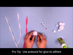 How to make a Cuddly Bunny for your Doll from pom poms and pipe cleaners. www.creativehands.com