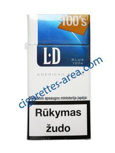 LD Blue 100's cigarettes