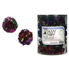 Amazon.com: Savvy Tabby Mylar Cat Ball Canisters, 45-Pack, Metallic: Pet Supplies $0.49