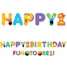 Check out Sesame Street 1st Birthday Banner (set) - Low Priced Birthday Party Decorations and Supplies from Wholesale Party Supplies