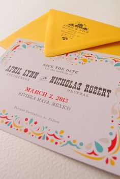 Convite de casamento à mexicana.