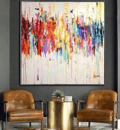 48 pintura pintura abstracta acrílico pintura decoración | Etsy