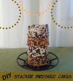 homemade birdseed cakes  www.themakeyourownzone.com